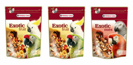 2 x Versele Laga Fruit Mix and 1 x Versele Laga Exotic Nut Mix