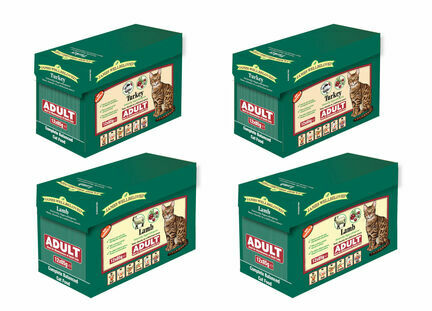 2 x James Wellbeloved Lamb & 2 x James Wellbeloved Turkey Adult Wet Cat Food - 12 x 85g