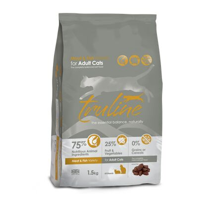 Truline Meat & Fish Variety Dry Cat Food 1.5kg