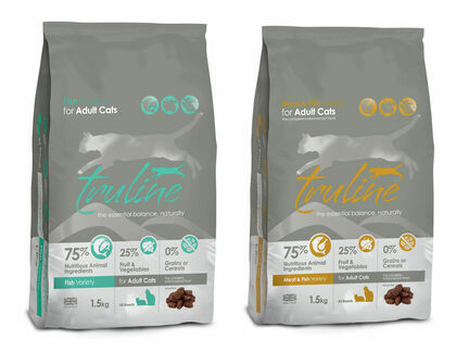 1 x 1.5kg Truline Fish & 1 x 1.5kg Truline Meat & Fish Dry Cat Food