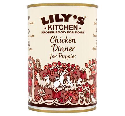 6 x 400g Lily's Kitchen Chicken Dinner for Puppies Wet Dog Food