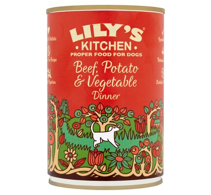 6 x 200g Lily's Kitchen Beef, Potato & Vegetable Dinner Wet Dog Food