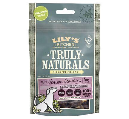 12 x 60g Lily's Kitchen Truly Naturals Mini Venison Sausages Dog Treats