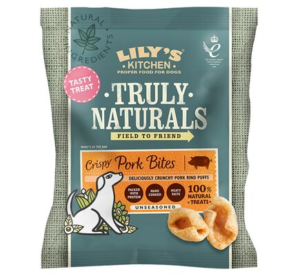 10 x 22g Lily's Kitchen Truly Naturals Crispy Pork Bites Dog Treats