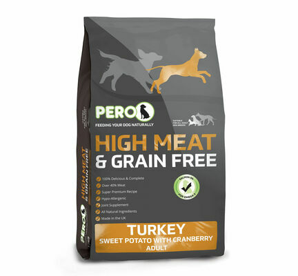 Pero High Meat Grain Free Turkey, Sweet Potato & Cranberry Adult Dog Food