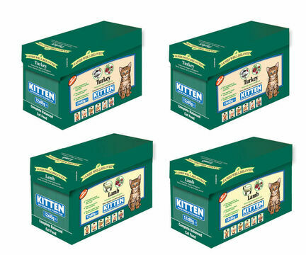 4 x Multi Pack 12 x 85g Turkey and Lamb James Wellbeloved Wet Kitten Food