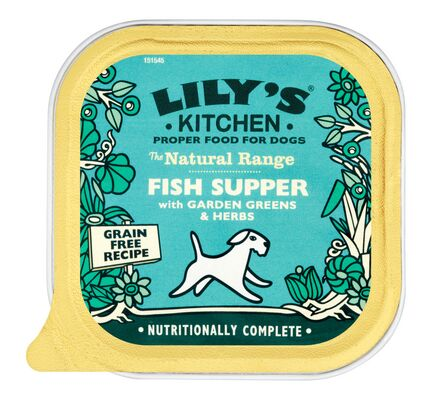 10 x 150g Lily's Kitchen Natural Fish Supper With Garden Greens And Herbs Wet Dog Food