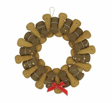 Best In Show Fabulously Festive Biscuit Banquet Wreath For Dogs