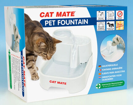 Cat Mate Pet Drinking Water Fountain - 2ltr