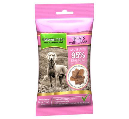 12 x 60g Natures Menu Gluten-Free Lamb Dog Treat Multibuy