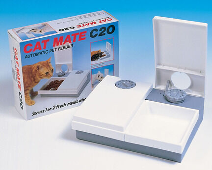 Cat Mate C20 Double Meal 201C Automatic Cat Feeder With Ice Pack & Timer