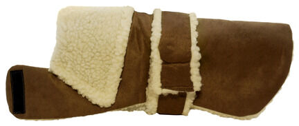 Pennine Stylish Brown Sheepskin Dog Coat