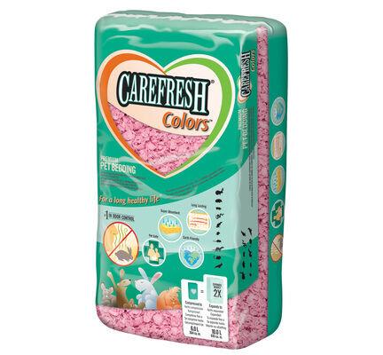 Carefresh Colours Pink Pet Bedding - 10 Litres