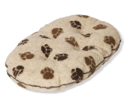 Danish Design Fleece Paw Cream & Brown Quilted Mattress