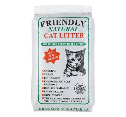 Friendship Estates Friendly Natural Straw Based Cat Litter - 20kg