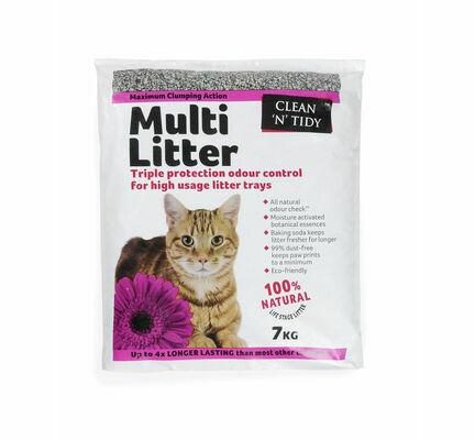 Sharples 'N' Grant Clean 'N' Tidy Multi Litter Maximum Clumping Cat Litter - 7kg