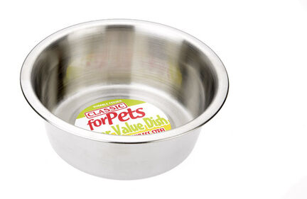 1900ml Caldex Classic Super Value Stainless Steel Dog Dish