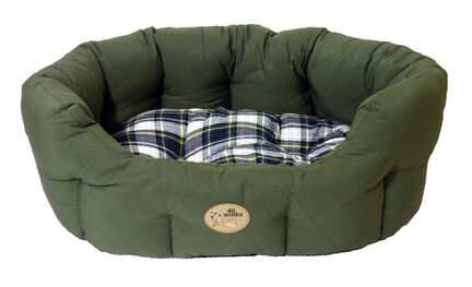 Rosewood 40 Winks Oval Sleeper Country Green Tartan Dog Bed