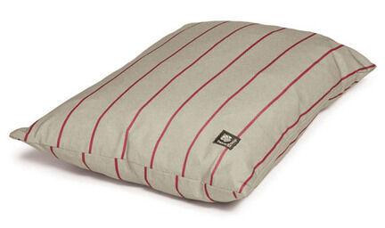Danish Design Heritage Herringbone Deep Red & White Stripe Duvet Dog Bed