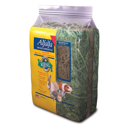Alfalfa King Double Compressed Alfalfa Hay Bale Small Animal Food