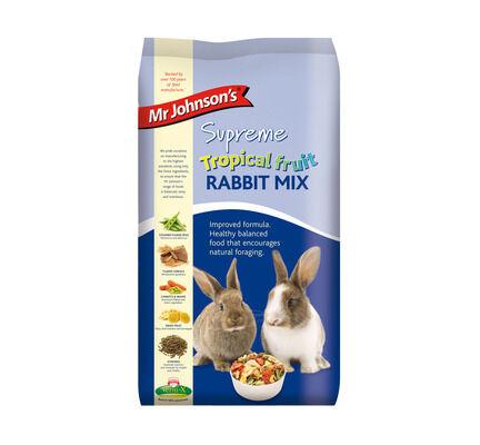 4 x Mr Johnson's Supreme Rabbit Tropical Fruit Mix 2.25kg