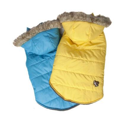 Doggy Things Waterproof Puffa Jacket With Hood Blue