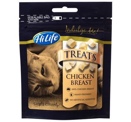 12 x 10g HiLife Indulge Me Chicken Breast Cat Treats