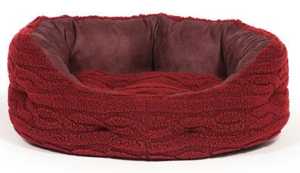 Danish Design Bobble Red Damson Deluxe Slumber Dog Bed