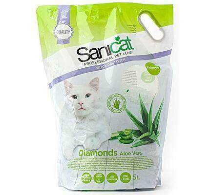 Sanicat Diamonds Aloe Vera Cat Litter - 5L