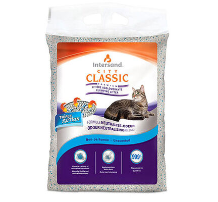 Intersand City Classic Unscented Clumping Cat Litter