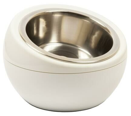 Hing Designs The Dome Dog & Cat Pet Feeding Bowl - White