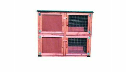 Goodspeed External Wood Double Hutch 24