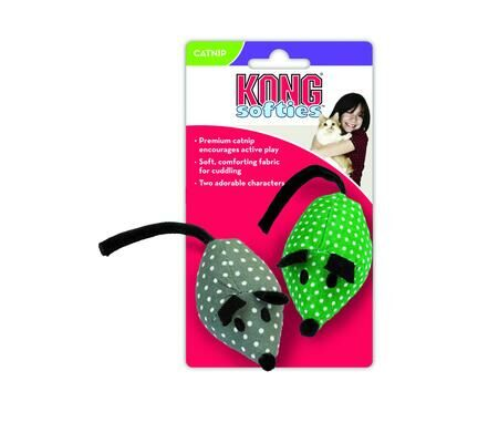 Kong Softies Catnip Mice Cat Toy - 2 Pack
