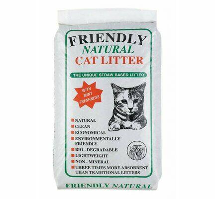 Friendship Estates Friendly Natural Straw Cat Litter - 8kg