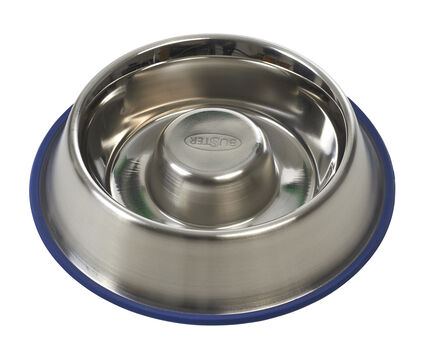 Buster Stainless Steel Slow Feeder Dog Bowl