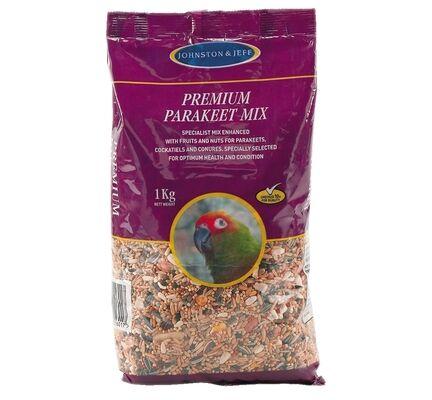 12 x Johnston & Jeff Premium Parakeet Mix 1kg