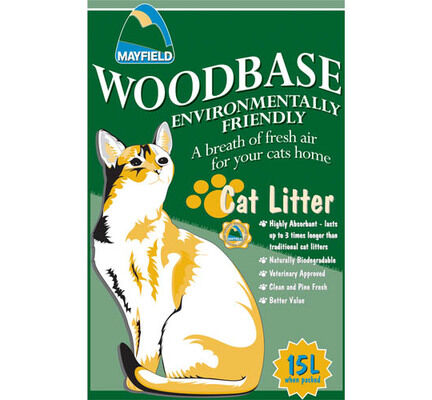 Mayfield Woodbase Natural Cat Litter