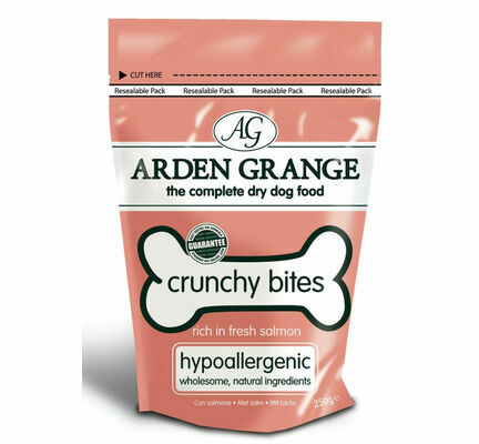 Arden Grange Mini Crunchy Bites Hypoallergenic Salmon Dog Treats - 5kg