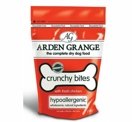 Arden Grange Crunchy Bites Hypoallergenic Chicken Dog Treats - 250g