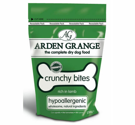 Arden Grange Crunchy Bites Hypoallergenic Lamb Dog Treats - 250g