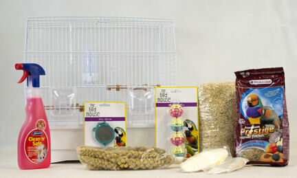 The Pet Express Small Bird Canary & Finch Starter Kit