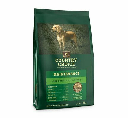 Gelert Country Choice Maintenance Lamb & Rice Dry Working Dog Food - 12kg