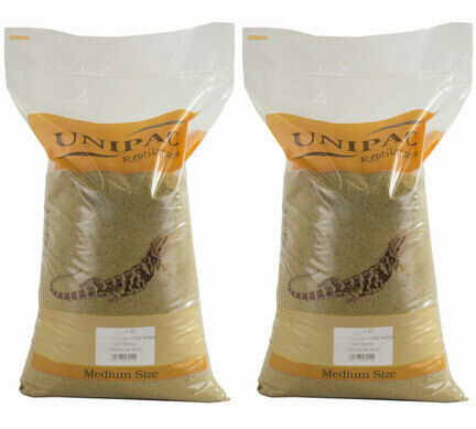 2 x 12.5kg Unipac Natural Reptile Calcium Sand Substrate Multibuy
