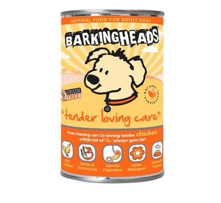 24 x 400g Barking Heads Tender Loving Care Chicken Wet Adult Dog Food