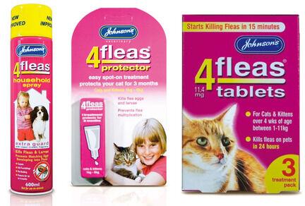 Johnson's 4Fleas Cat & Kitten (1 - 11kg) Flea Treatment Bundle