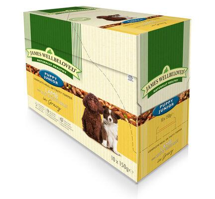 40 x 150g James Wellbeloved Puppy / Junior Lamb & Rice Pouches Multibuy