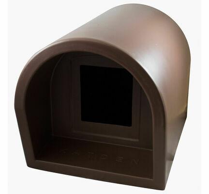 Mr Snugs KatDen Outdoor Cat Kennel/Shelter - Chocolate (Various Options)