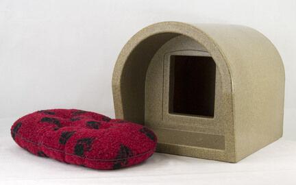 Mr Snugs Katden Stone Cat Kennel & Red Mattress
