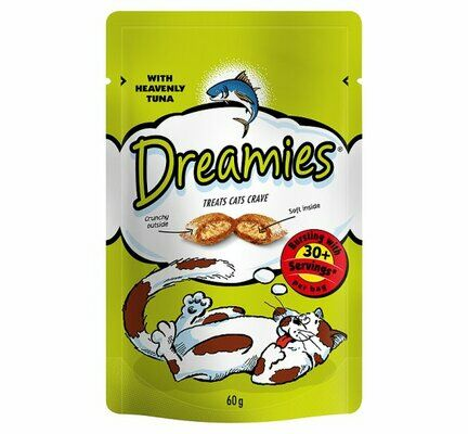 8 x 60g Dreamies Cat Treats With Tuna
