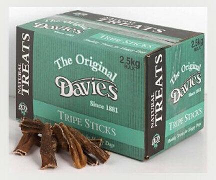 The Original Davies Tripe Sticks Dog Treats 2.5kg